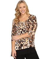 Karen Kane Plus - Plus Size 3/4 Sleeve Contrast Hem Tunic Top