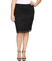 Karen Kane Plus - Plus Size Lace Pencil Skirt