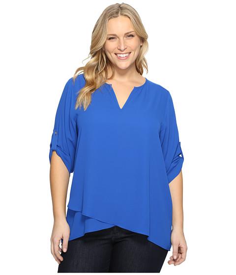 Karen Kane Plus Plus Size Asymmetric Hem Wrap Top