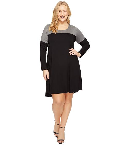 Karen Kane Plus Plus Size Color Block Maggie Trapeze Dress