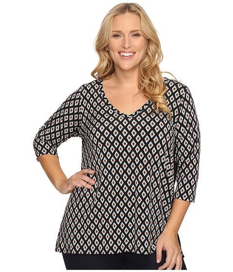 Karen Kane Plus Plus Size Contrast Back Tunic