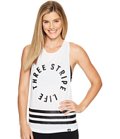 adidas - Three Stripe Life Racerback Tank Top