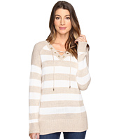 Calvin Klein - Striped Lace-Up Sweater