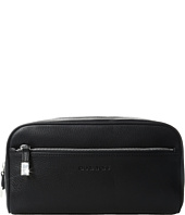 BUGATCHI - Pebble Leather Full Grain Toiletry Bag