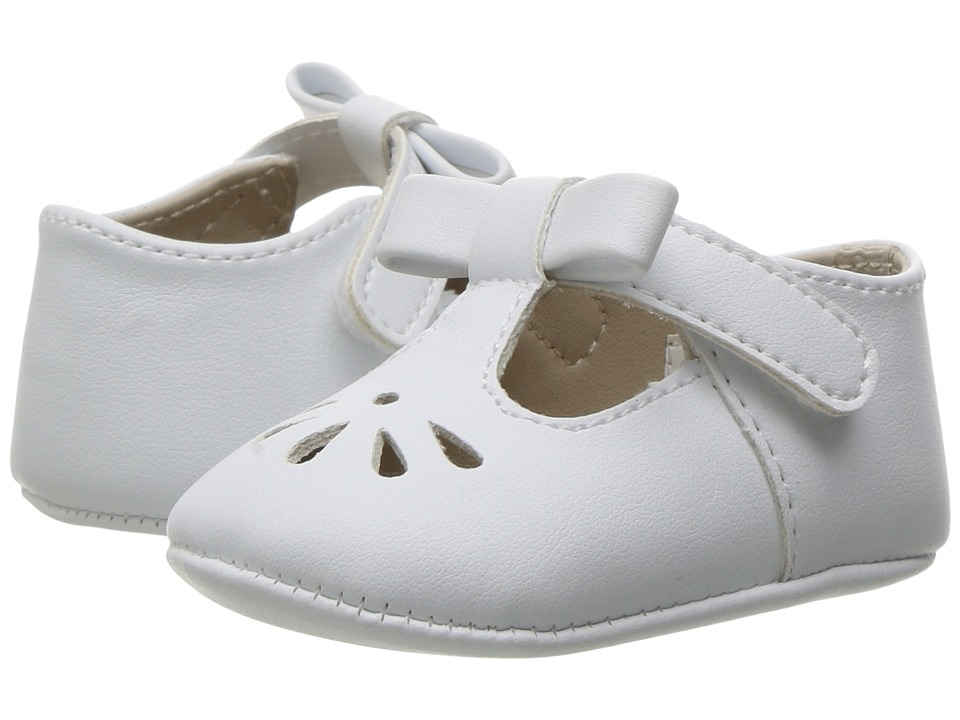 Baby Deer - Classic T-Strap with Bow and Perforations