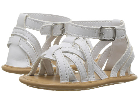 Baby Deer Strappy Sandal (Infant) - White