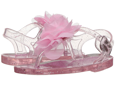 Baby Deer Glitter Jelly Thong Sandal (Infant/Toddler) - Pink