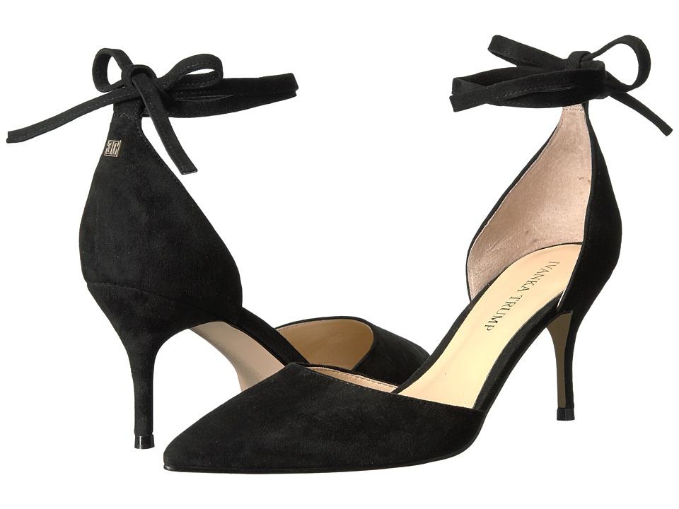 Ivanka Trump Bernie (Black Suede/Savoy Suede) High Heels