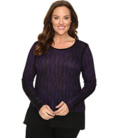 MICHAEL Michael Kors - Plus Size Textured Scale Woven Top