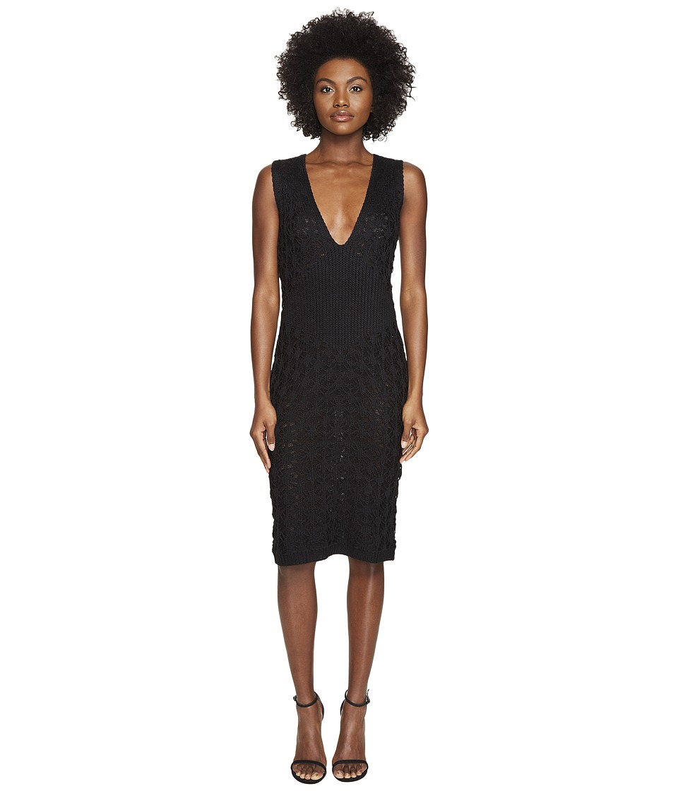 Zac Posen Dandelion Lace Knit Sleeveless Dress (Black) Women