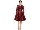 Zac Posen - Poppy Embroidery 3/4 Sleeve Dress