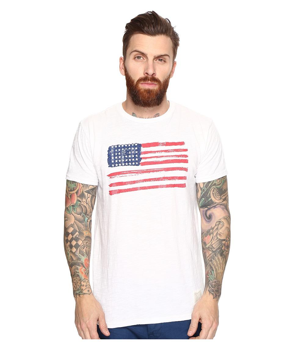 The Original Retro Brand - American Flag Short Sleeve Slub Tee