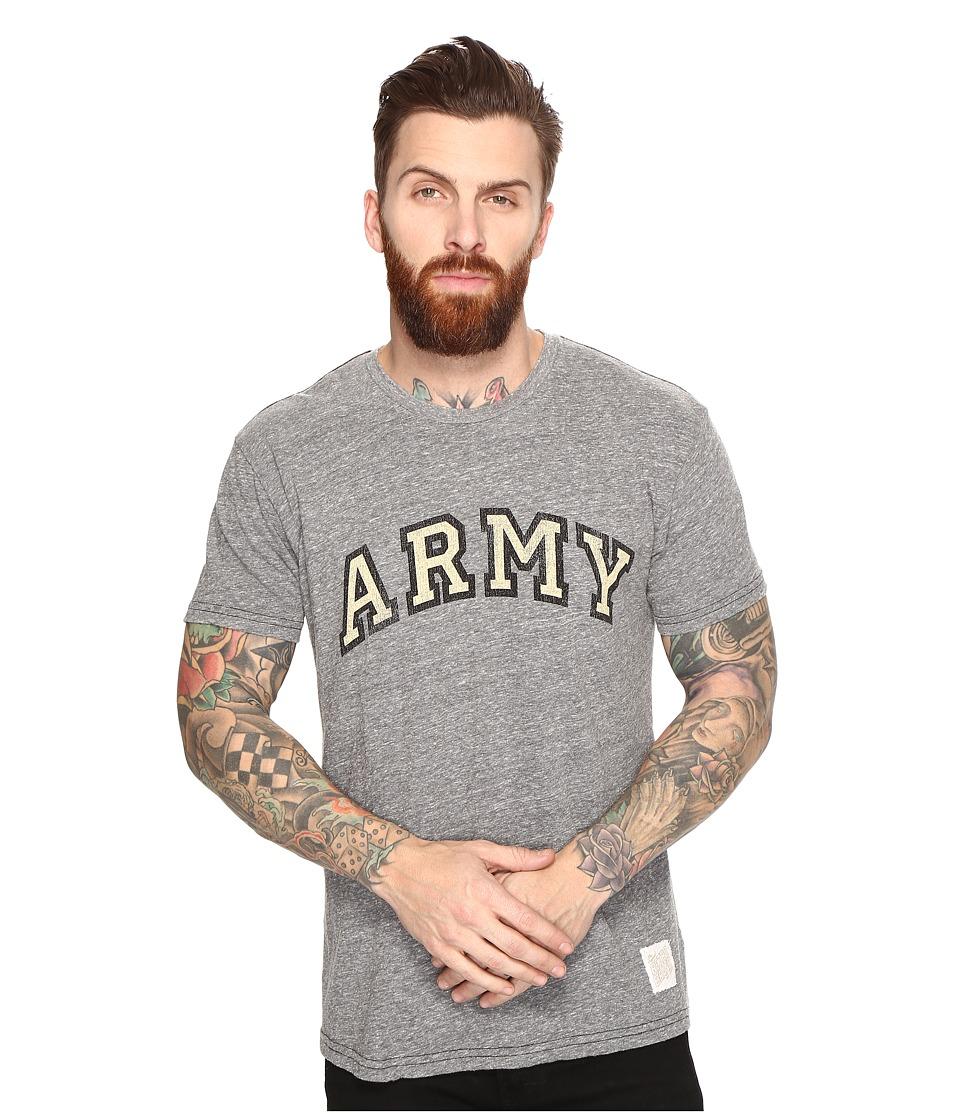 The Original Retro Brand - Short Sleeve Tri-Blend Army Tee