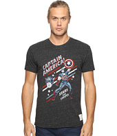 The Original Retro Brand - Short Sleeve Tri-Blend Captain America Tee