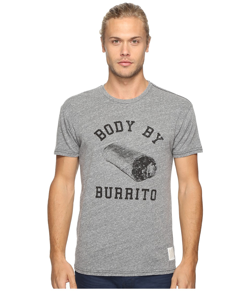 The Original Retro Brand - Body By Burrito Short Sleeve Tri-Blend Tee