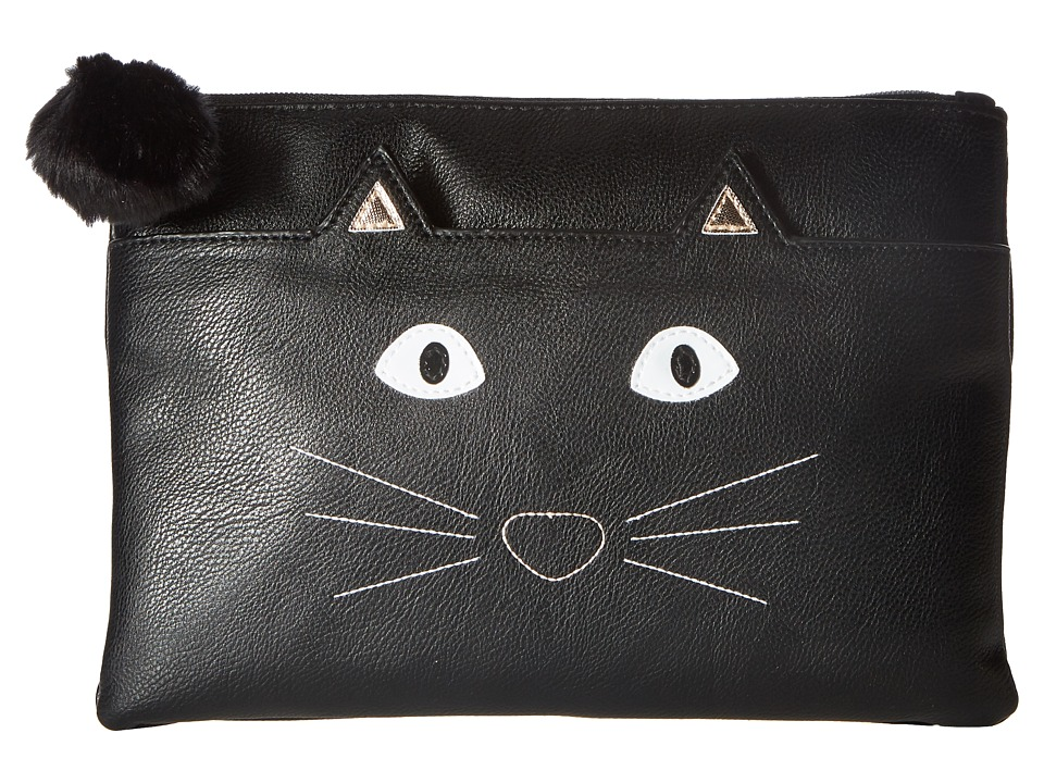 Jessica McClintock Cat Clutch (Black) Clutch Handbags