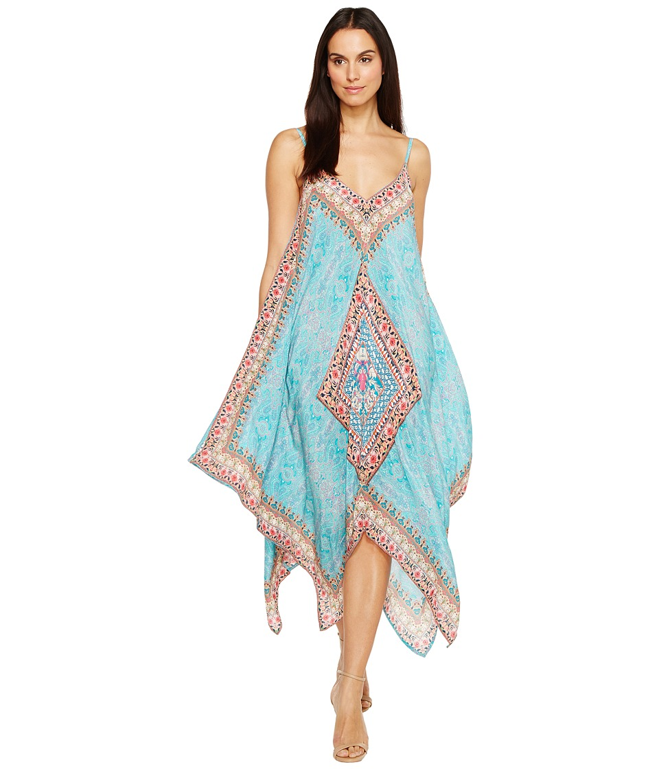 Tolani Drew Handkerchief Maxi Dress (Sky) Women
