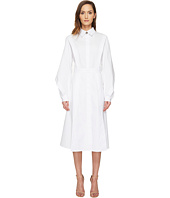 Prabal Gurung - Cotton Poplin Long Sleeve Collared Shirtdress
