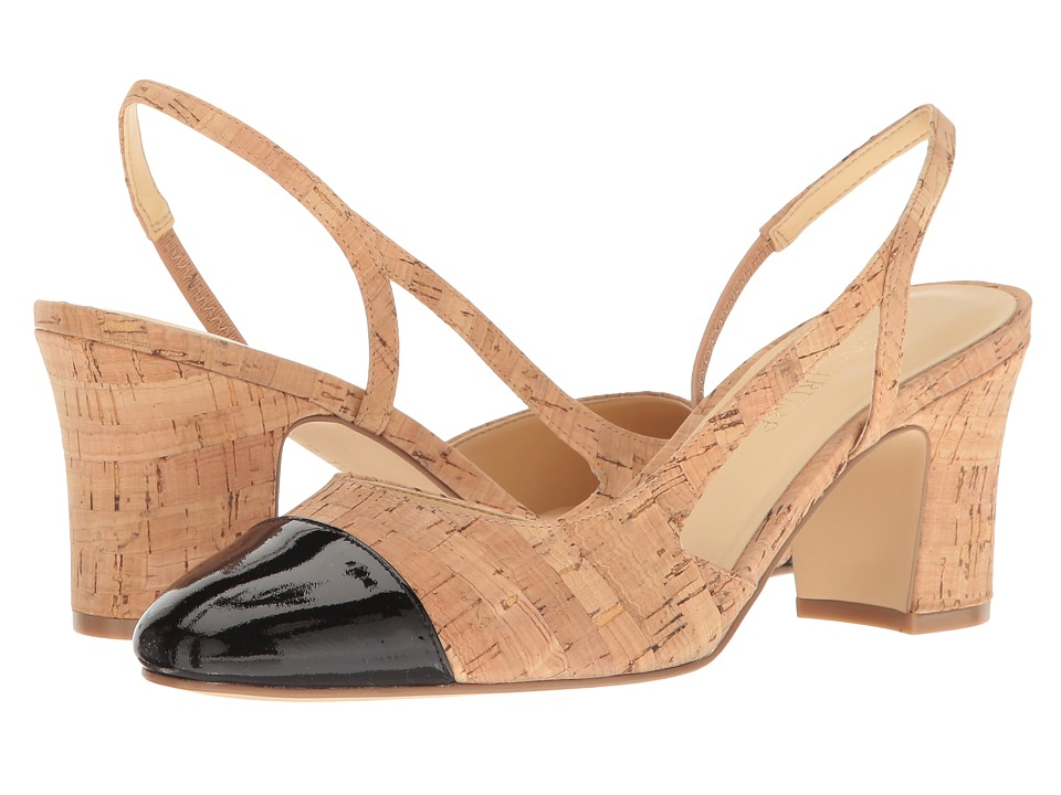 Ivanka Trump Liah3 (Natural Multi Cork/New Patent Leather) High Heels