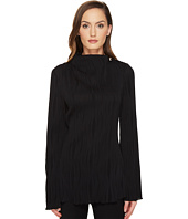 Prabal Gurung - Long Sleeve High Neck Blouse w/ Metal Ball Detail