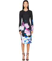 Prabal Gurung - Printed Viscose Long Sleeve Knit Dress