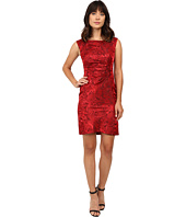 Tahari by ASL - Side Ruche Jacquard Sheath Dress