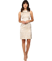 Tahari by ASL - Rollneck Shimmer Jacquard Sheath Dress