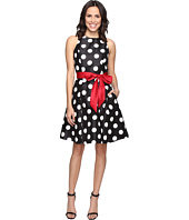 Tahari by ASL - Shantung Polka Dot Party Dress