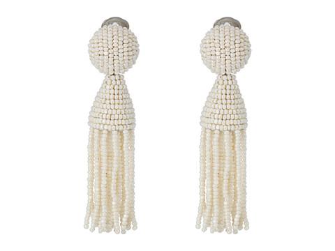 Oscar de la Renta Classic Short Tassel C Earrings