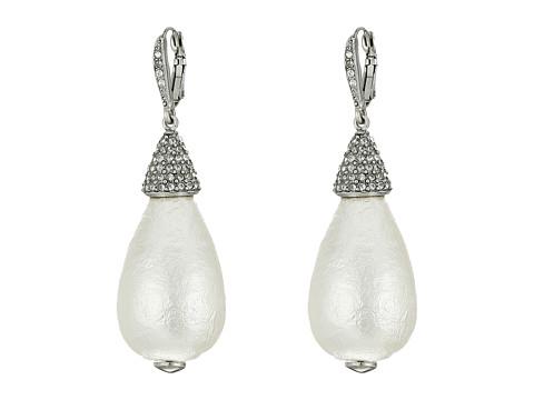 Oscar de la Renta Drop P Earrings - Pearl