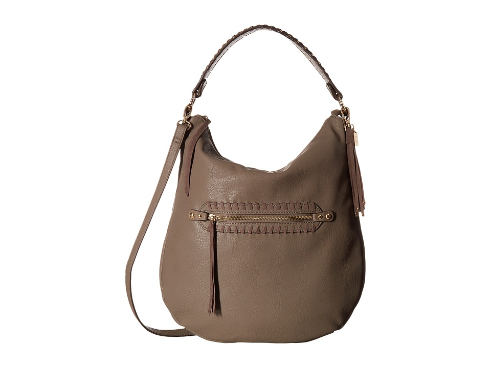 Jessica Simpson Angie Top Zip Hobo (Slate) Hobo Handbags