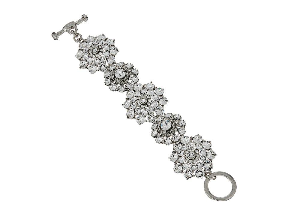 Oscar de la Renta - Jeweled Bracelet (Crystal/Silver) Bracelet