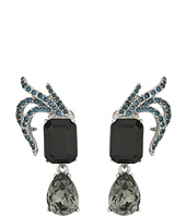 Oscar de la Renta - Pave Leaf and Crystal C Earrings