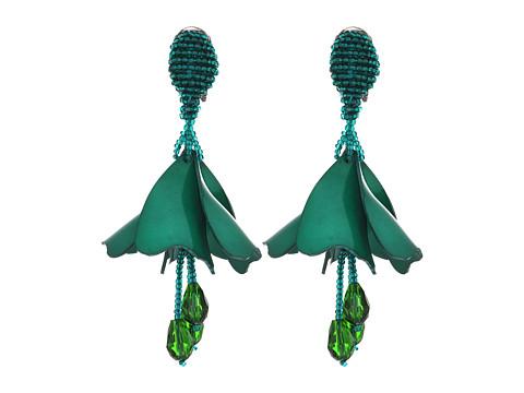 Oscar de la Renta Small Impatiens Flower Drop C Earrings