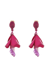 Oscar de la Renta - Small Impatiens Flower Drop C Earrings