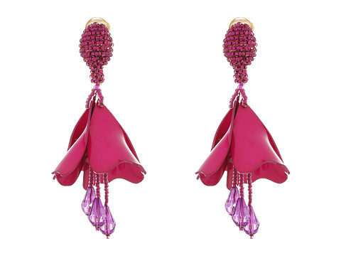 Oscar de la Renta Small Impatiens Flower Drop C Earrings