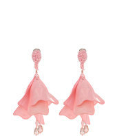 Oscar de la Renta - Large Impatiens Flower Drop C Earrings