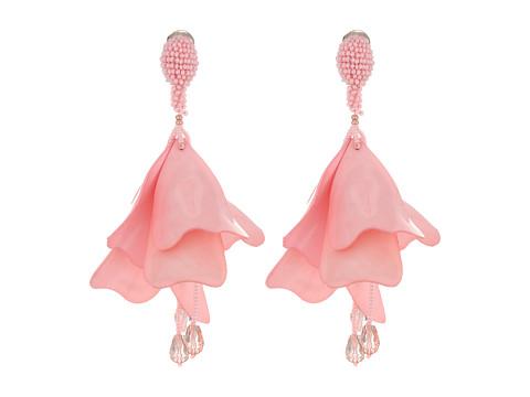 Oscar de la Renta Large Impatiens Flower Drop C Earrings