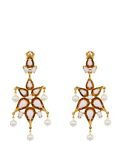 Oscar de la Renta - Cabochon Pear Stone and Pearl C Earrings