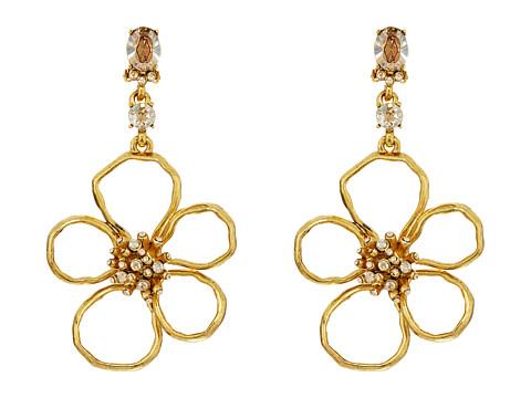 Oscar de la Renta Flower C Earrings