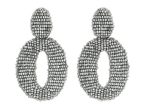 Oscar de la Renta Classic Oscar O C Earrings - Silver