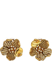 Oscar de la Renta - Pave and Dotted Petal C Earrings