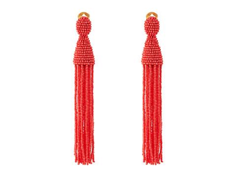 Oscar de la Renta Long Beaded C Tassel Earrings