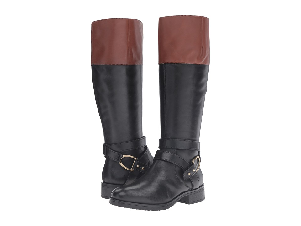 Bandolino Tessi (Black/Cognac Leather) Women