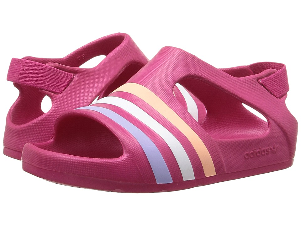 adidas Originals Kids Adilette Play (Infant/Toddler) (Bright Pink) Girls Shoes
