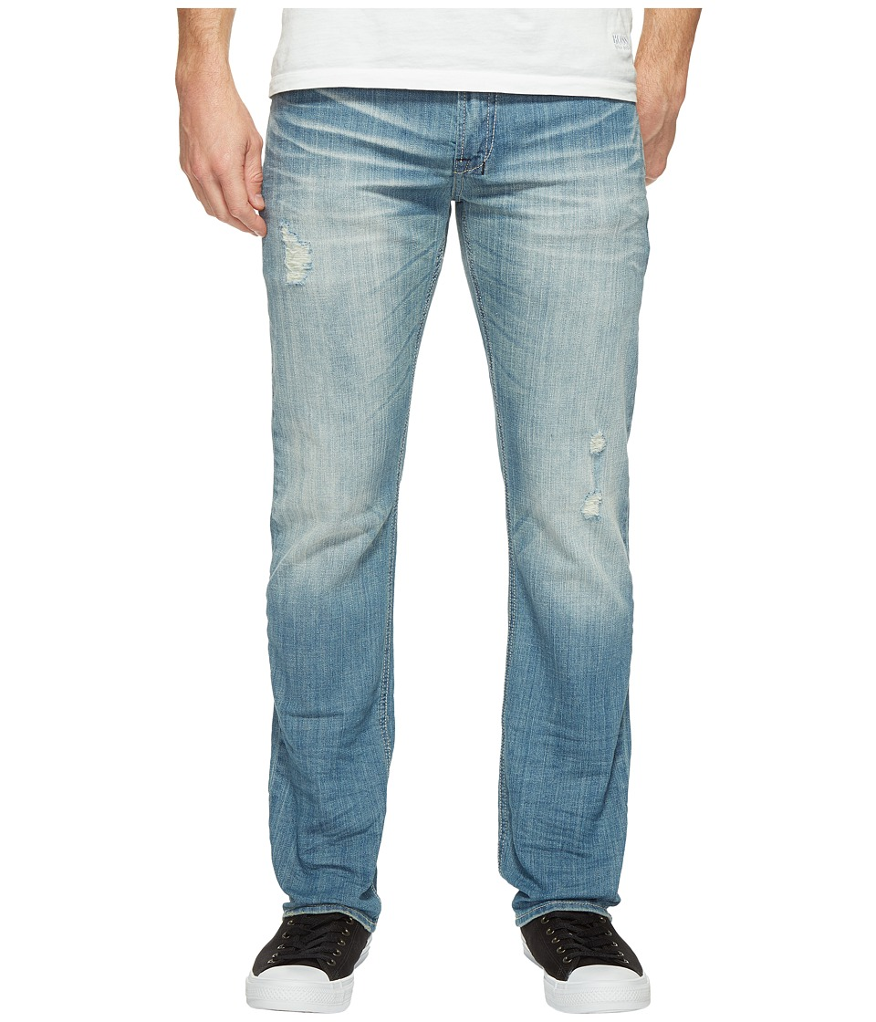 Buffalo David Bitton - Six Straight Leg Jeans in Light Medium Wash
