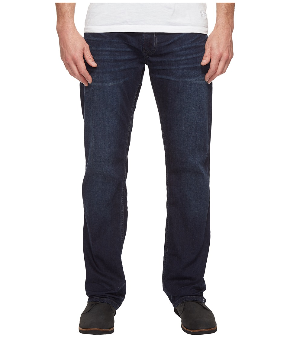 Buffalo David Bitton Buffalo David Bitton - Driven Relaxed Straight Leg Jeans in Dark Blue Wash