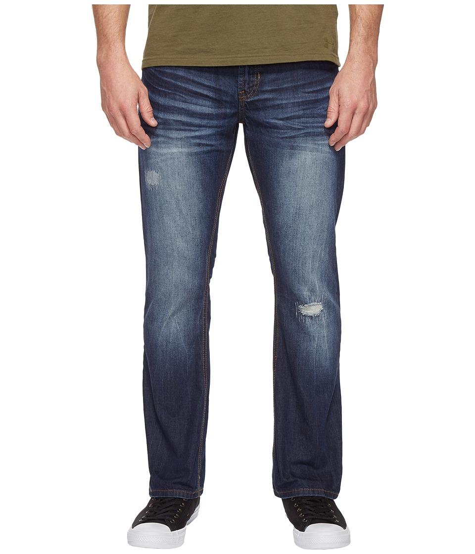 Buffalo David Bitton - King Slim Bootcut Jeans in Medium Repaired Wash