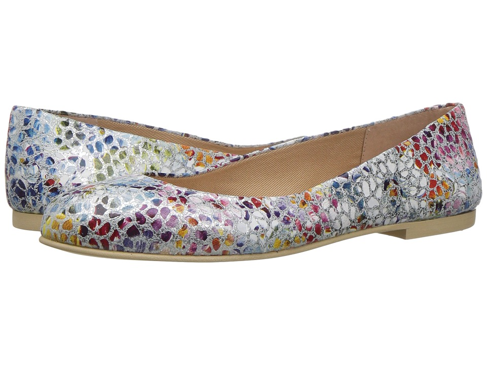 French Sole Radar (White Mosaic Print Leather) Women