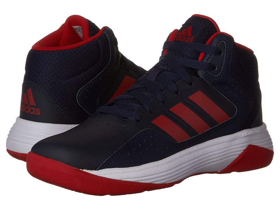 adidas Kids Cloudfoam Ilation Basketball (Little Kid/Big Kid) (Collegiate Navy/Scarlet/Footwear White) Boys Shoes